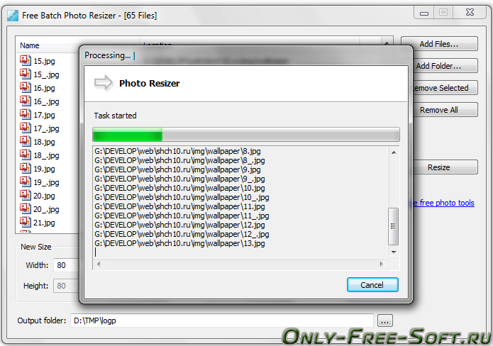 Free Batch Photo Resizer