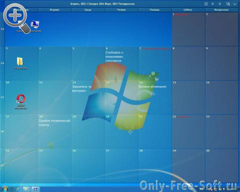 DesktopCal Windows Calendar